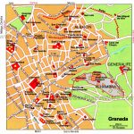 Granada Map   Tourist Attractions | Southern Spain In 2019 | Tourist Intended For Printable Street Map Of Granada Spain