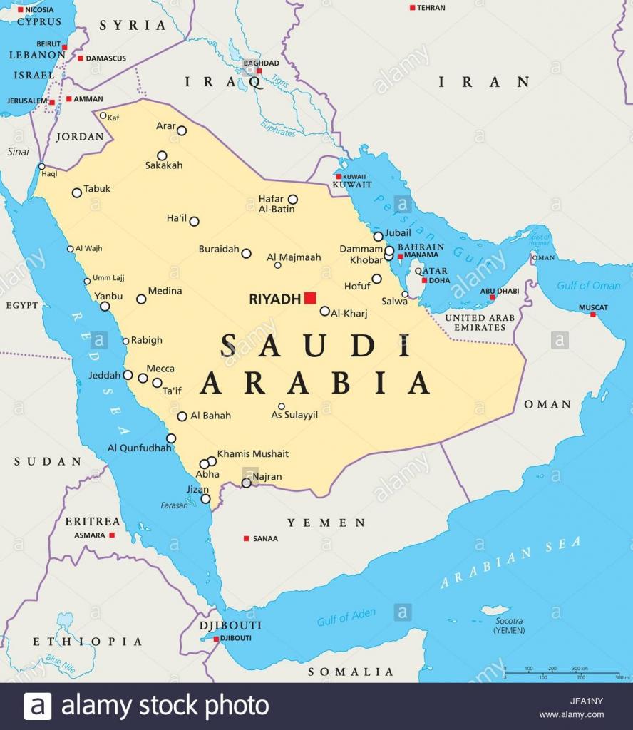 Graphi Ogre Saudi Arabia Political Wall Map Printable Map Of Saudi regarding Printable Map Of Saudi Arabia