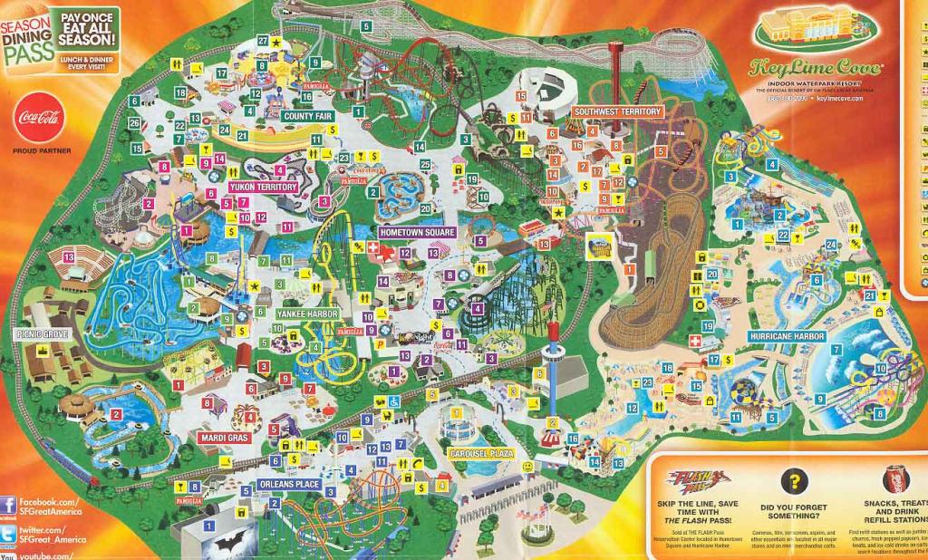 Great America California Map - Klipy - Six Flags Map California 2018 within Six Flags Great America Printable Park Map
