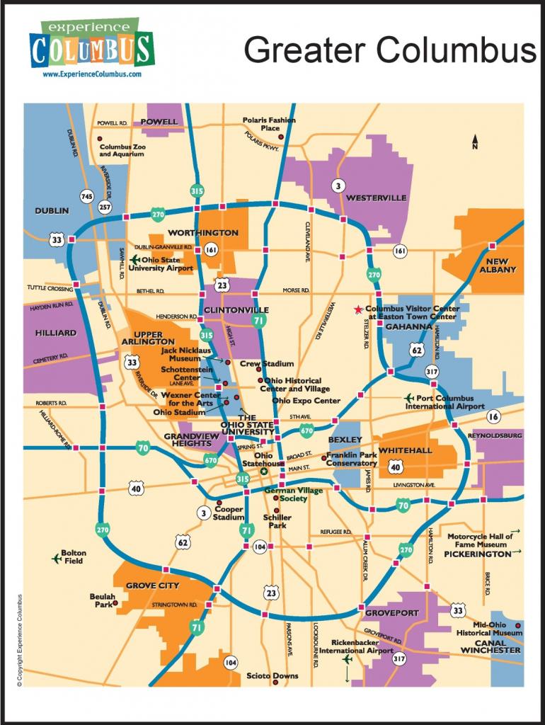 Greater Columbus Map throughout Printable Map Of Columbus Ohio
