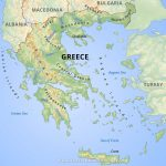 Greece Physical Map With Regard To Printable Map Of Greece