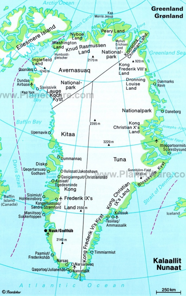 Greenland Maps | Maps Of Greenland for Printable Map Of Greenland