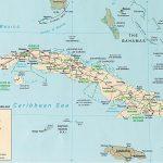 Groot Kaart Cuba Op De Wereld Kaart In Printable Map Of Cuba