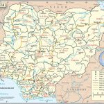 Groot Kaart Nigeria Op De Wereld Kaart Pertaining To Printable Map Of Nigeria
