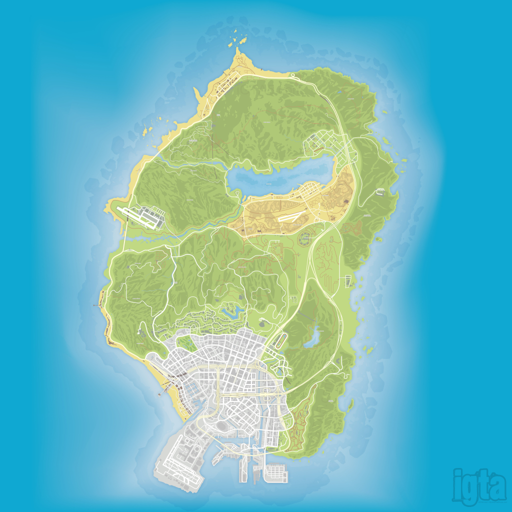 Gta 5 Map intended for Gta 5 Printable Map