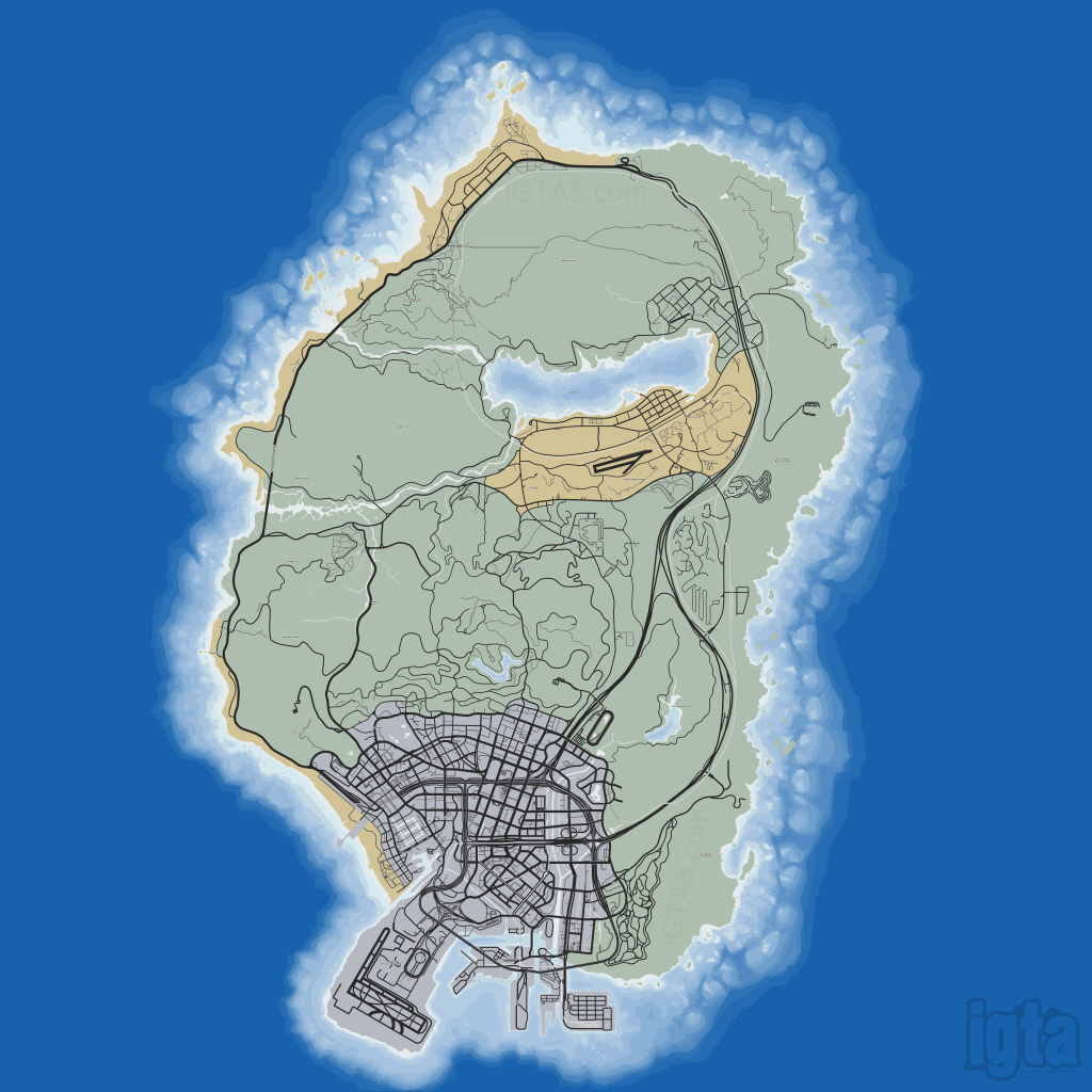 Gta 5 Map within Gta 5 Printable Map