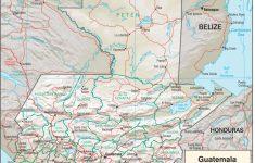 Printable Map Of Guatemala