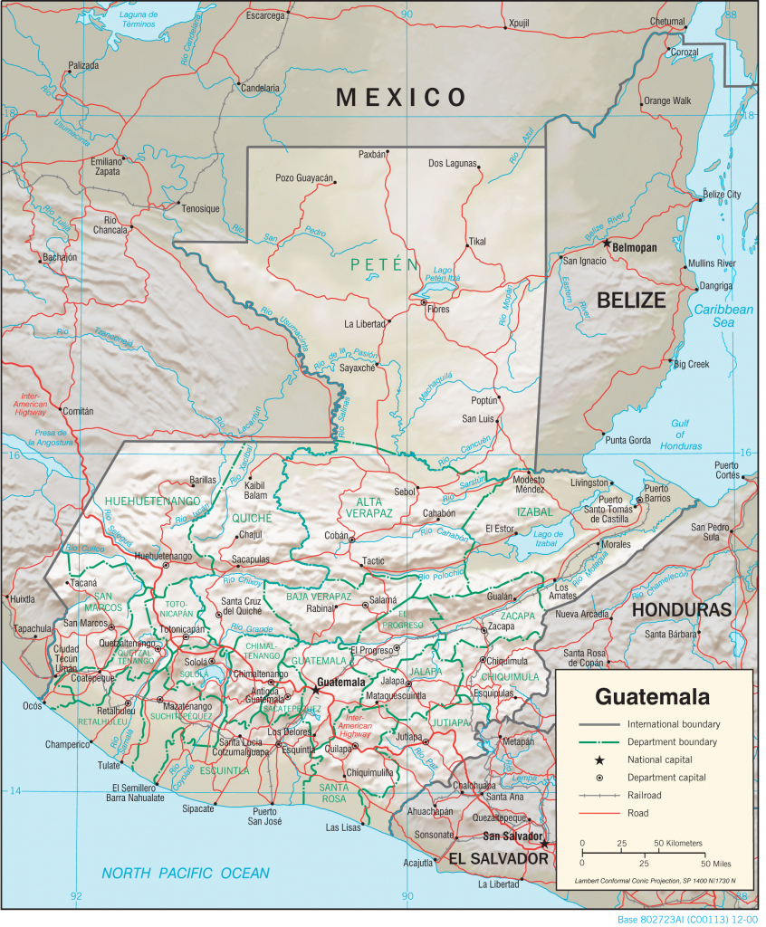 Guatemala Maps - Perry-Castañeda Map Collection - Ut Library Online regarding Printable Map Of Guatemala