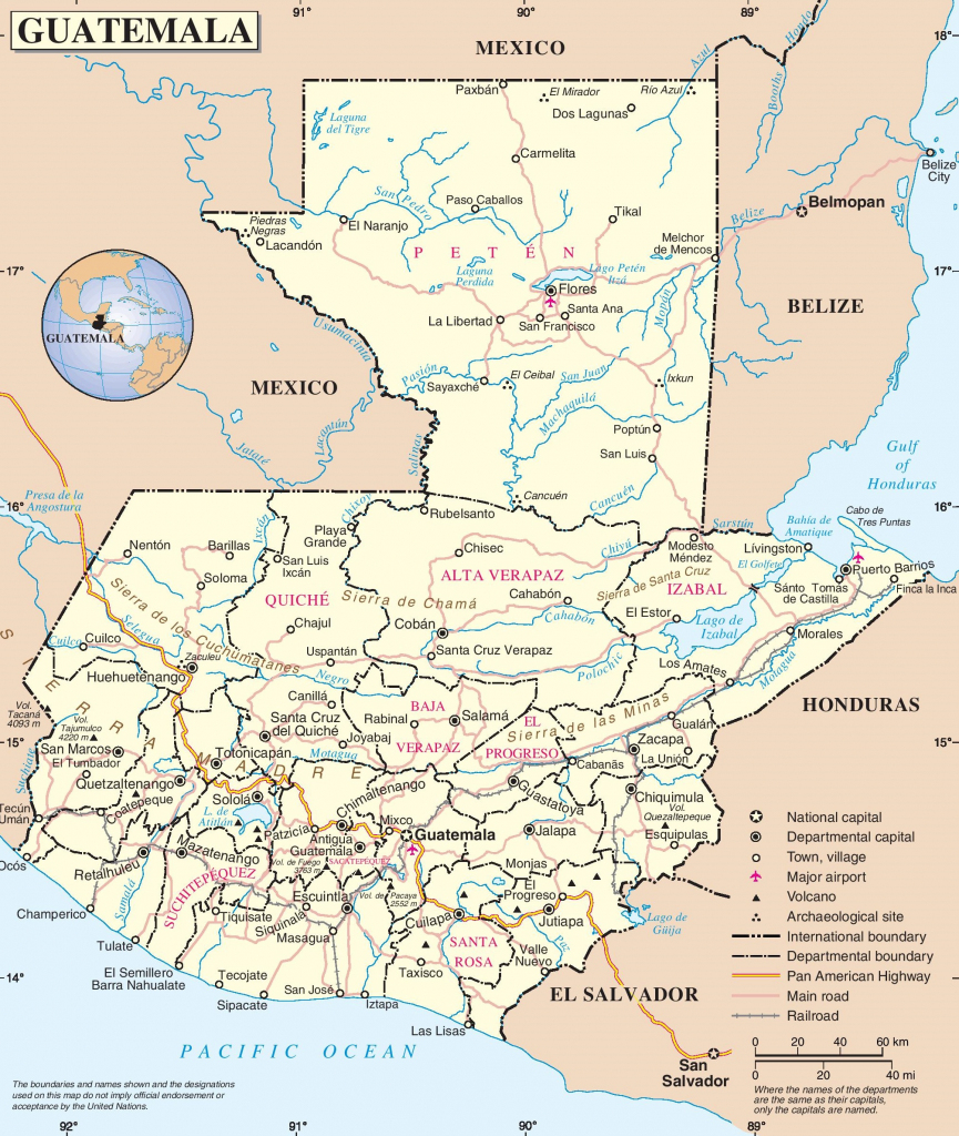 Guatemala Road Map within Printable Map Of Guatemala