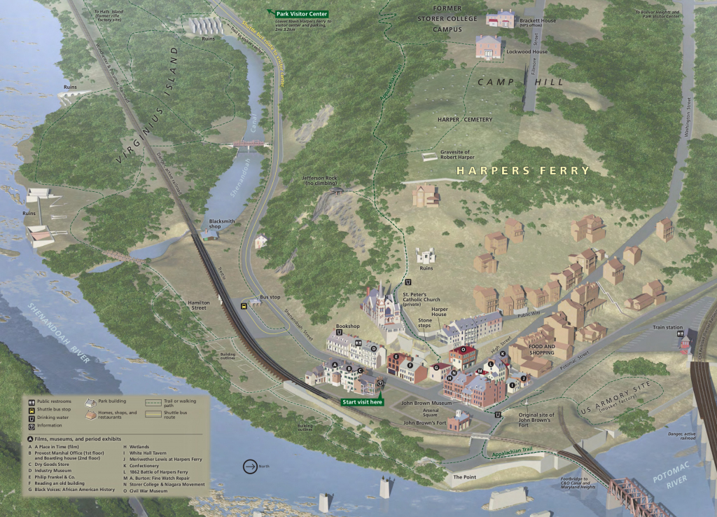 Harpers Ferry Maps | Npmaps - Just Free Maps, Period. in Free Printable Aerial Maps