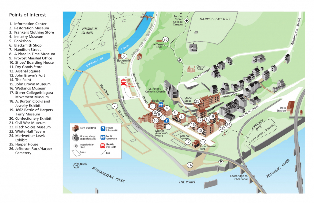Harpers Ferry Maps   Npmaps - Just Free Maps, Period. intended for Printable Town Maps