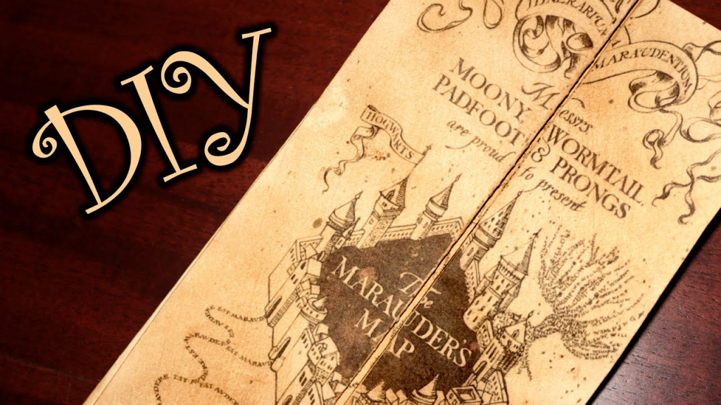Harry Potter Marauder's Map - Diy - Youtube throughout Harry Potter Map Marauders Free Printable