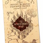 Harry Potter Paraphernalia: How To Make A Marauder's Map (Party With Regard To Harry Potter Marauders Map Printable