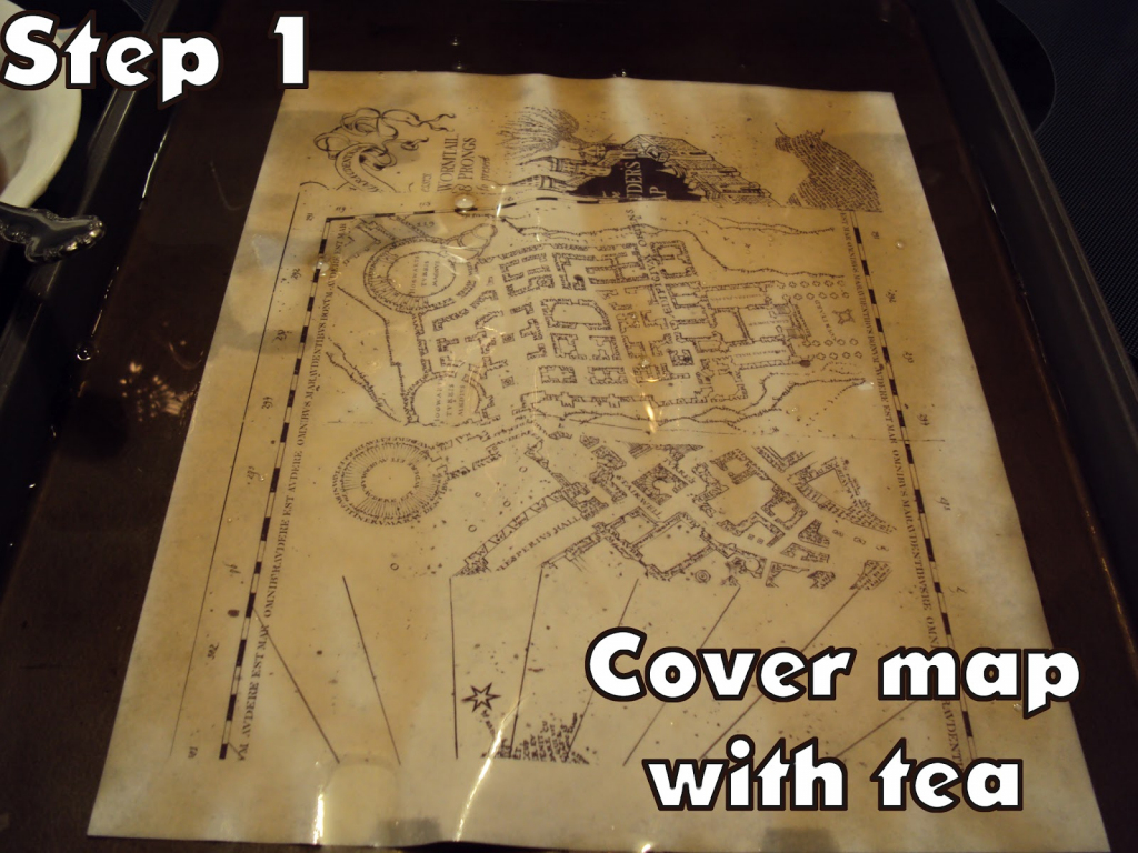 Harry Potter Paraphernalia: Marauder's Map: Inside And Outside in Marauders Map Printable