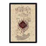 Harry Potter   The Marauder's Map   Poster Print Art, Licensed In The Marauders Map Printable