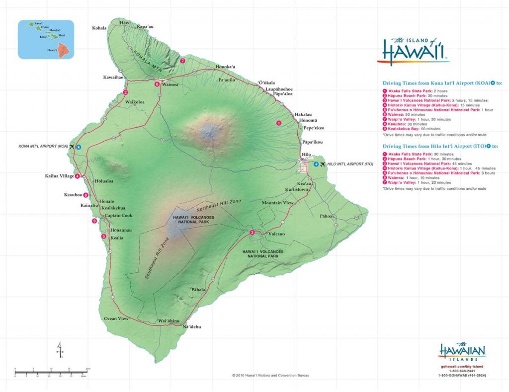 Hawaii Big Island Maps & Geography | Go Hawaii in Map Of The Big Island Hawaii Printable
