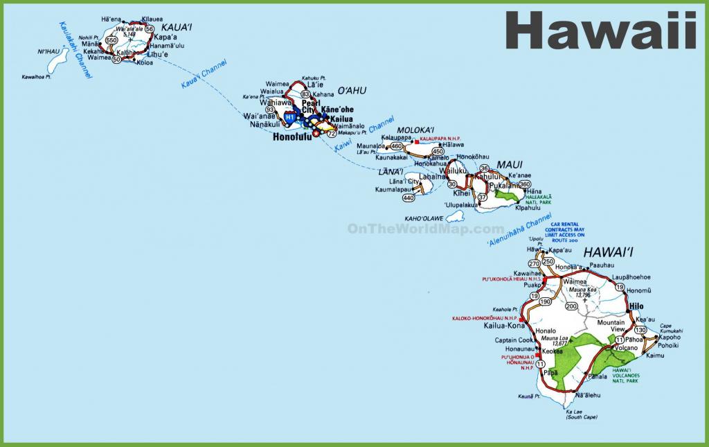 Hawaii State Maps | Usa | Maps Of Hawaii (Hawaiian Islands) for Printable Map Of Hawaiian Islands