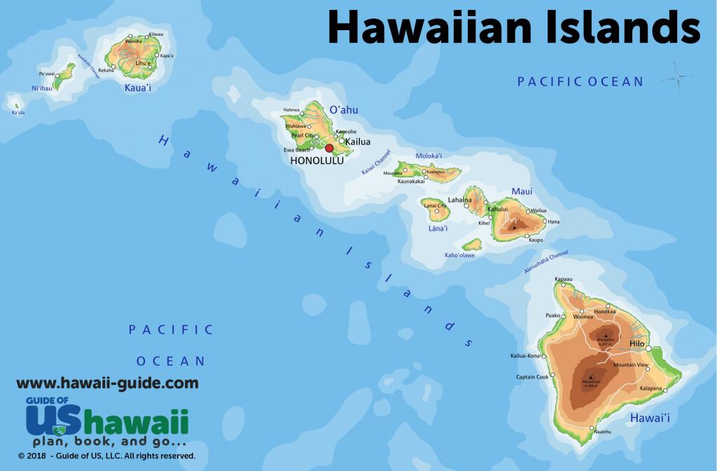 Hawaii Travel Maps within Printable Map Of Hawaiian Islands