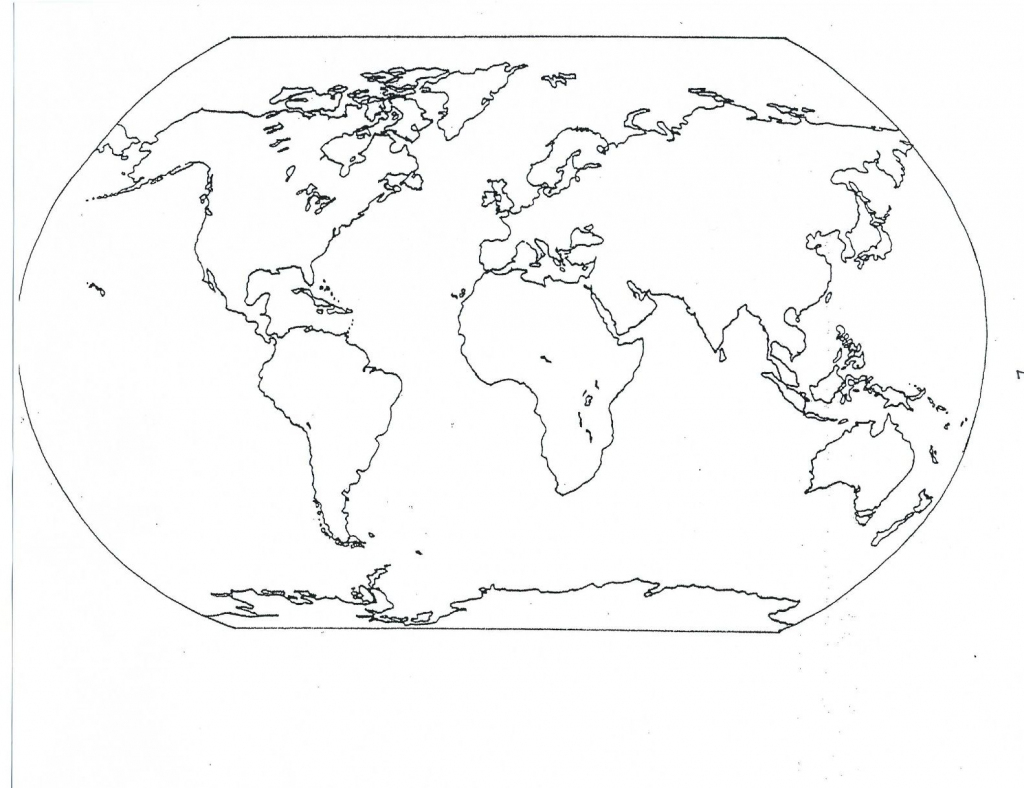Here Is A Blank Map To Be Used As A Study Guide. Click On It To within Continents Outline Map Printable