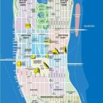 High Resolution Map Of Manhattan For Print Or Download | Usa Travel In Printable Map Manhattan Pdf