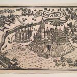 Hogwarts Map Block Print | Etsy Throughout Hogwarts Map Printable