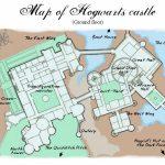 Hogwarts Papercraft Harry Potter Hogwarts Castle Map   Printable Intended For Hogwarts Map Printable