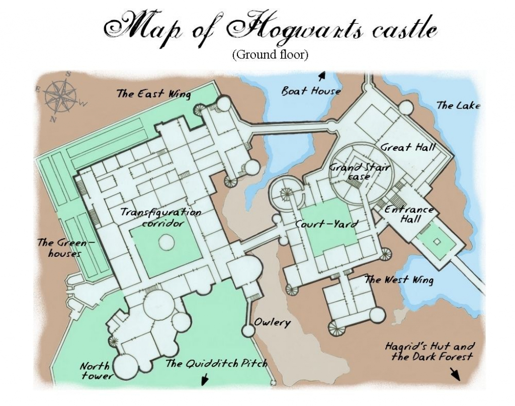 Hogwarts Papercraft Harry Potter Hogwarts Castle Map - Printable intended for Hogwarts Map Printable