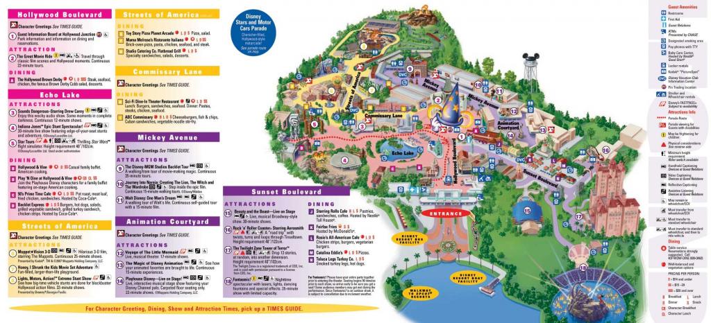 Hollywood Studios / Mgm Studios Orlando 2012 Map | Disney World In with regard to Maps Of Disney World Printable