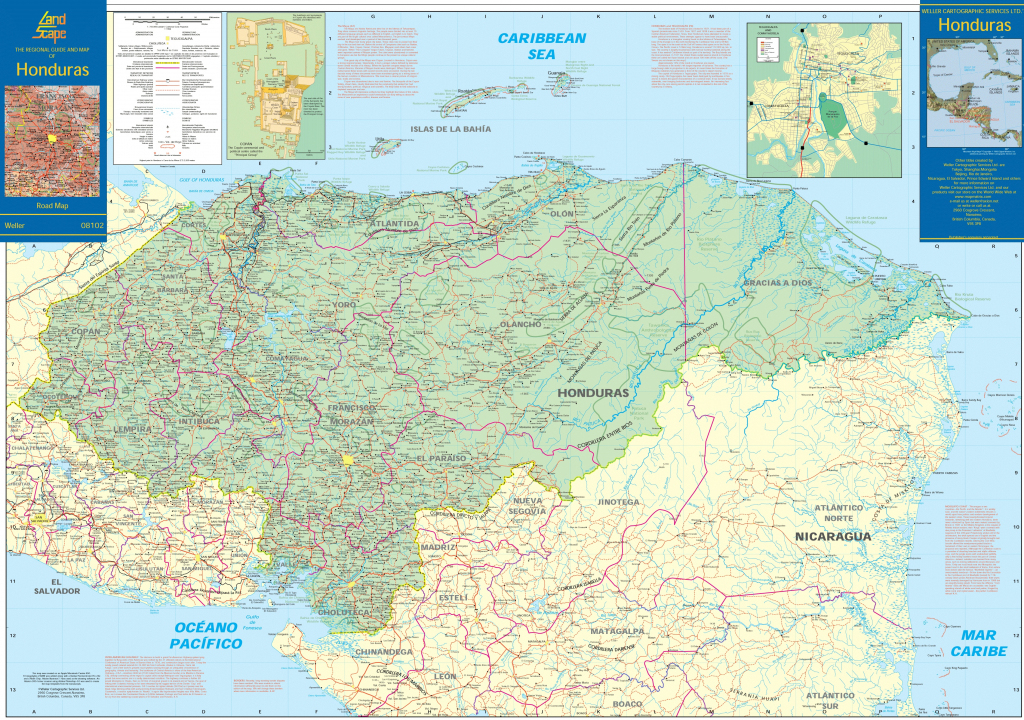 Honduras Maps | Maps Of Honduras with Printable Map Of Honduras