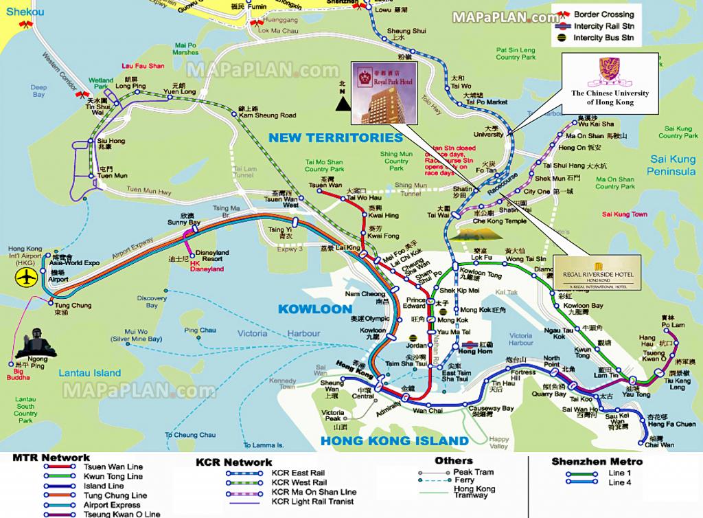 Hong Kong Maps - Top Tourist Attractions - Free, Printable City with Printable Map Of Hong Kong
