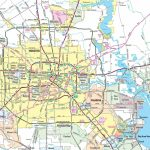 Houston Area Road Map With Printable Map Of Houston