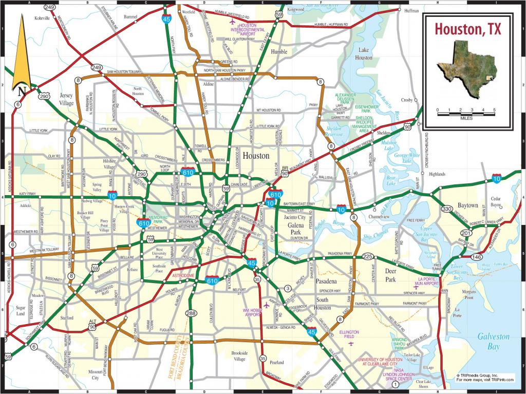 Houston Maps | Texas, U.s. | Maps Of Houston - Printable Map Of for Printable Map Of Houston
