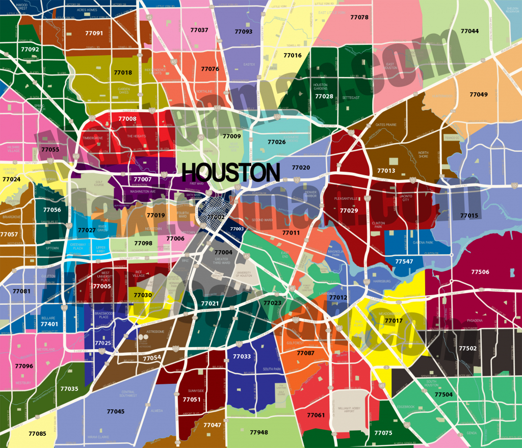 Houston Zip Code Map | Mortgage Resources inside Houston Zip Code Map Printable