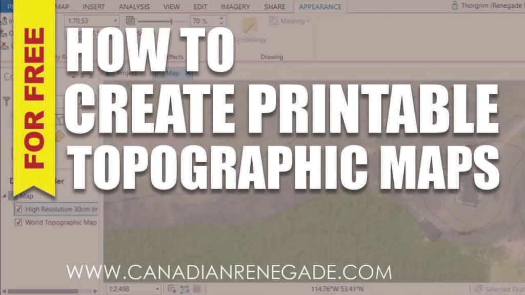How To Create A Printable Topographic Map In Arcgis Pro - Youtube intended for How To Create A Printable Map