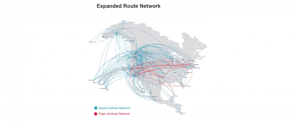 Ht Alaska Airlines Virgin America Merger Map Jc 160404 Route 9 within Alaska Airlines Printable Route Map