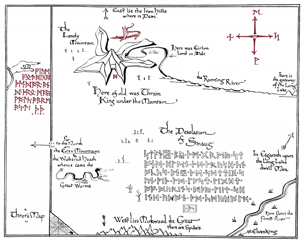 I Made A Printable Version Of Thror's Map.(X-Post From R/tolkienfans intended for Thror's Map Printable