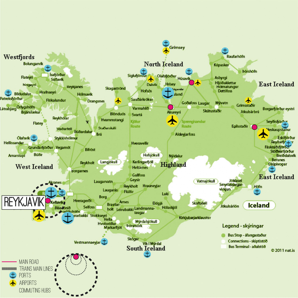 Iceland Map Printable And Travel Information | Download Free Iceland within Printable Map Of Iceland