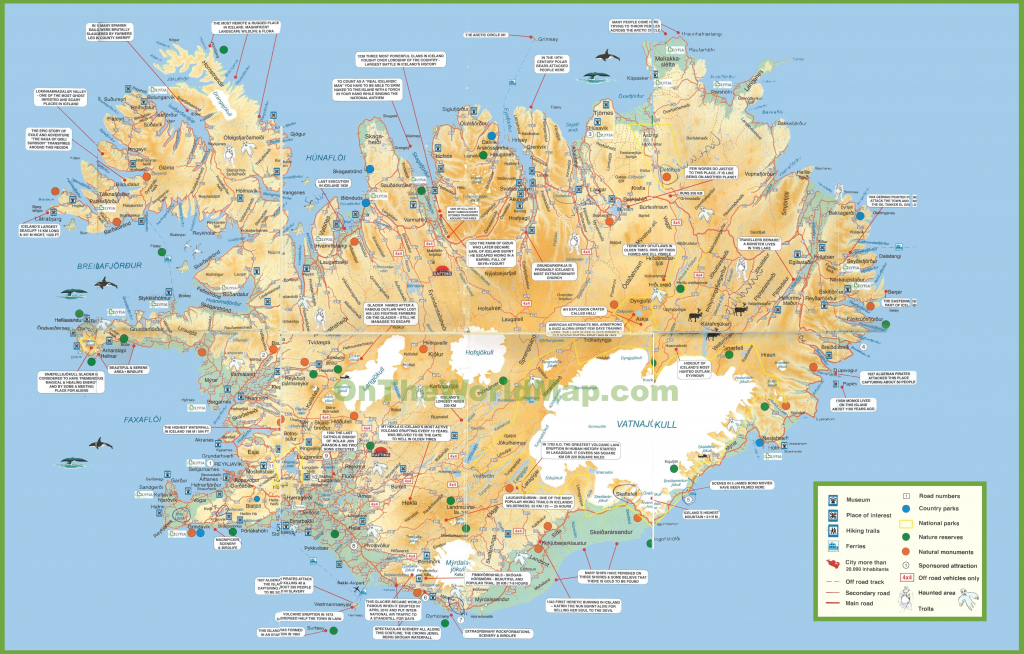 Iceland Tourist Map throughout Maps Of Iceland Printable Maps