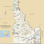 Idaho Map Printable Maps Idaho Mountain Ranges Map Idaho Mountain Pertaining To Printable Map Of Idaho