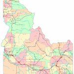 Idaho Printable Map Pertaining To Printable Map Of Idaho