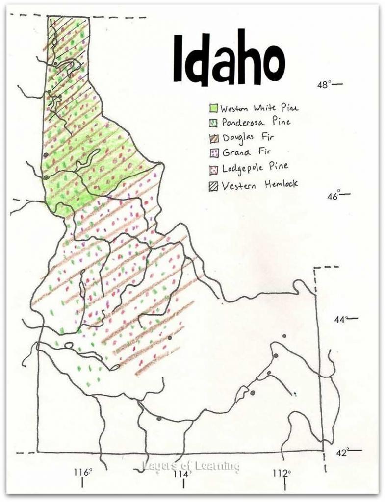 Idaho Tree Distribution | Free Printables | Pinterest | Idaho, Maps regarding Printable Tree Map