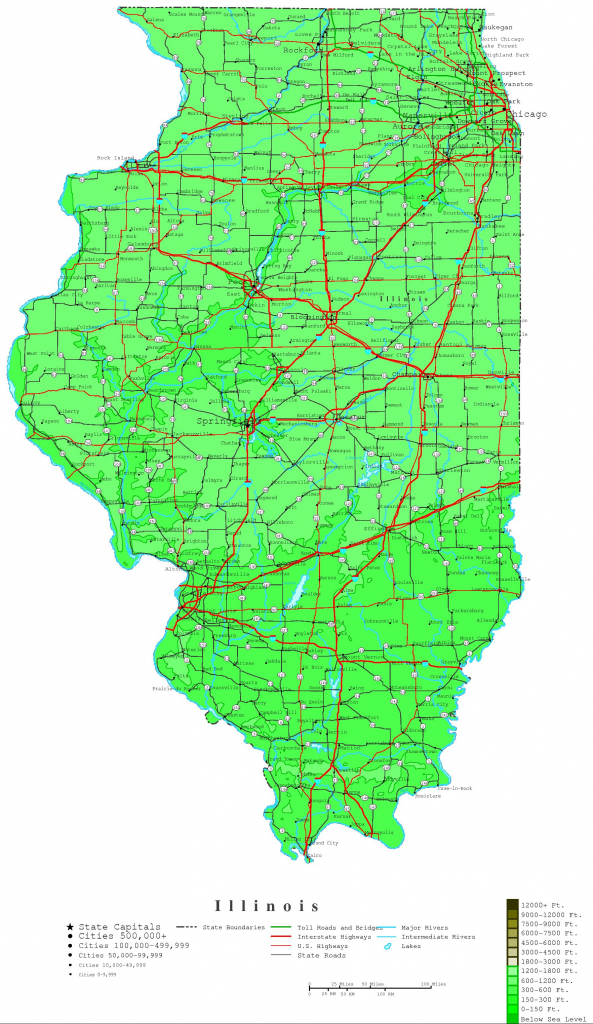 Illinois Map - Online Maps Of Illinois State throughout Printable Map Of Champaign Il