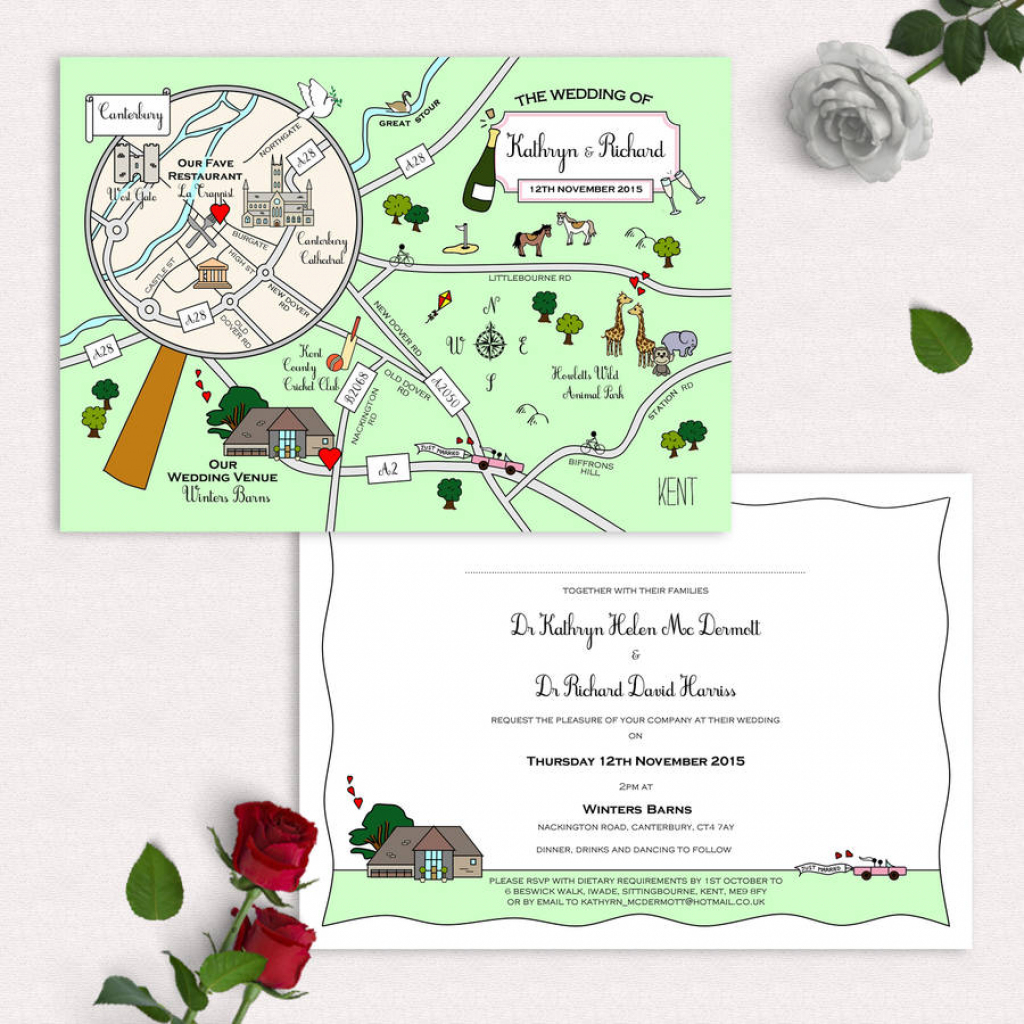 Illustrated Map Party Or Wedding Invitationcute Maps pertaining to Printable Maps For Invitations