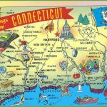Illustrated Tourist Map Of Connecticut With Printable Map Of Connecticut