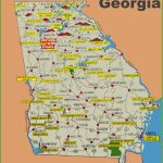 Illustrated Tourist Map Of Georgia Intended For Printable Map Of Georgia