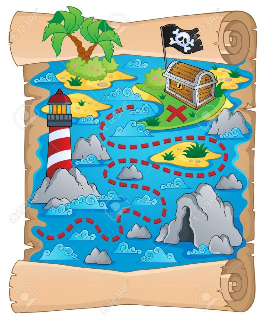 Image Result For Free Printable Pirate Treasure Map | Wallpapper In regarding Children's Treasure Map Printable