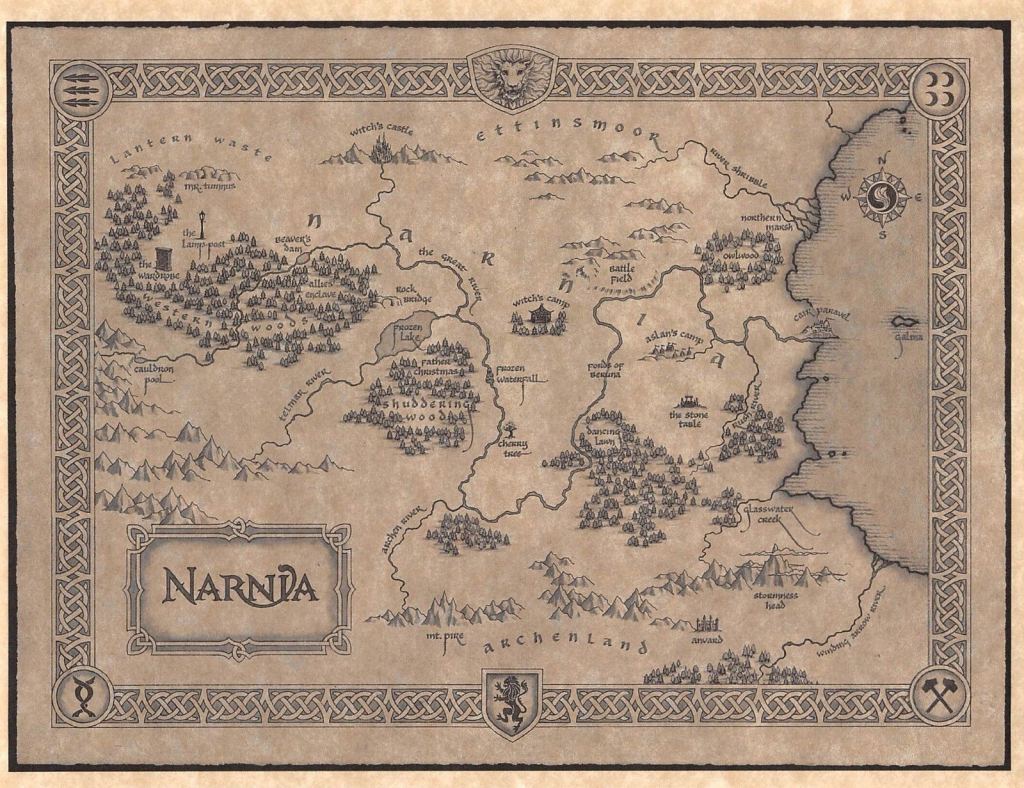 Image Result For Map Of Narnia Printable | Office In 2019 | Map Of for Printable Map Of Narnia