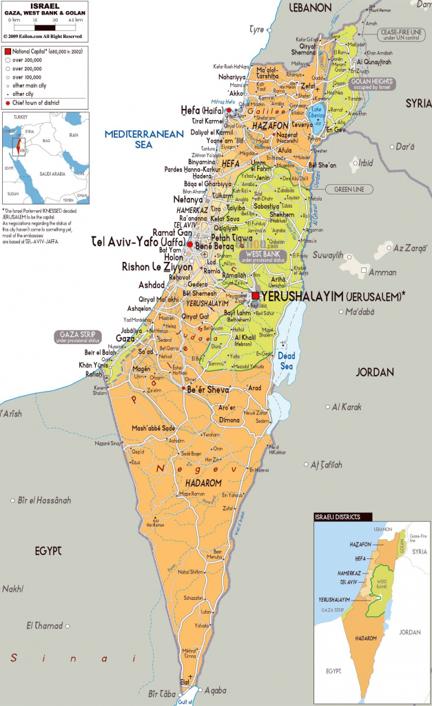 Image Result For Printable Map Of Israel | Israel Map | Map, Israel inside Printable Map Of Israel