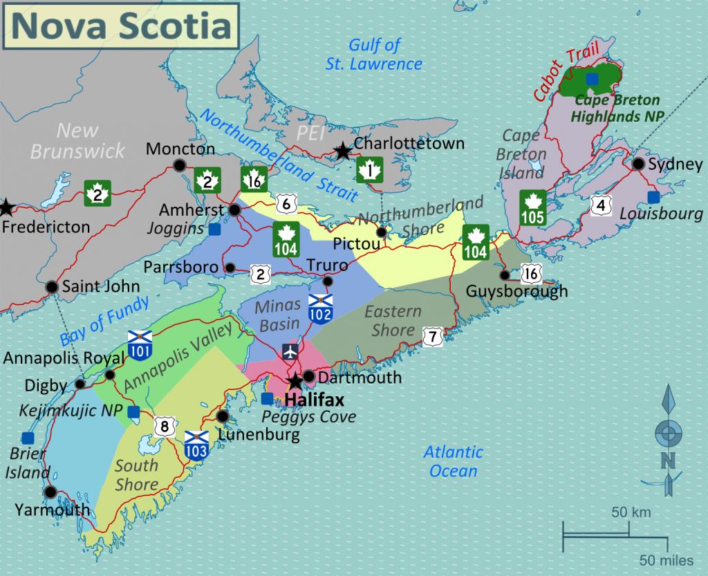 Image Result For Printable Map Of Nova Scotia | Vacations throughout Printable Map Of Nova Scotia