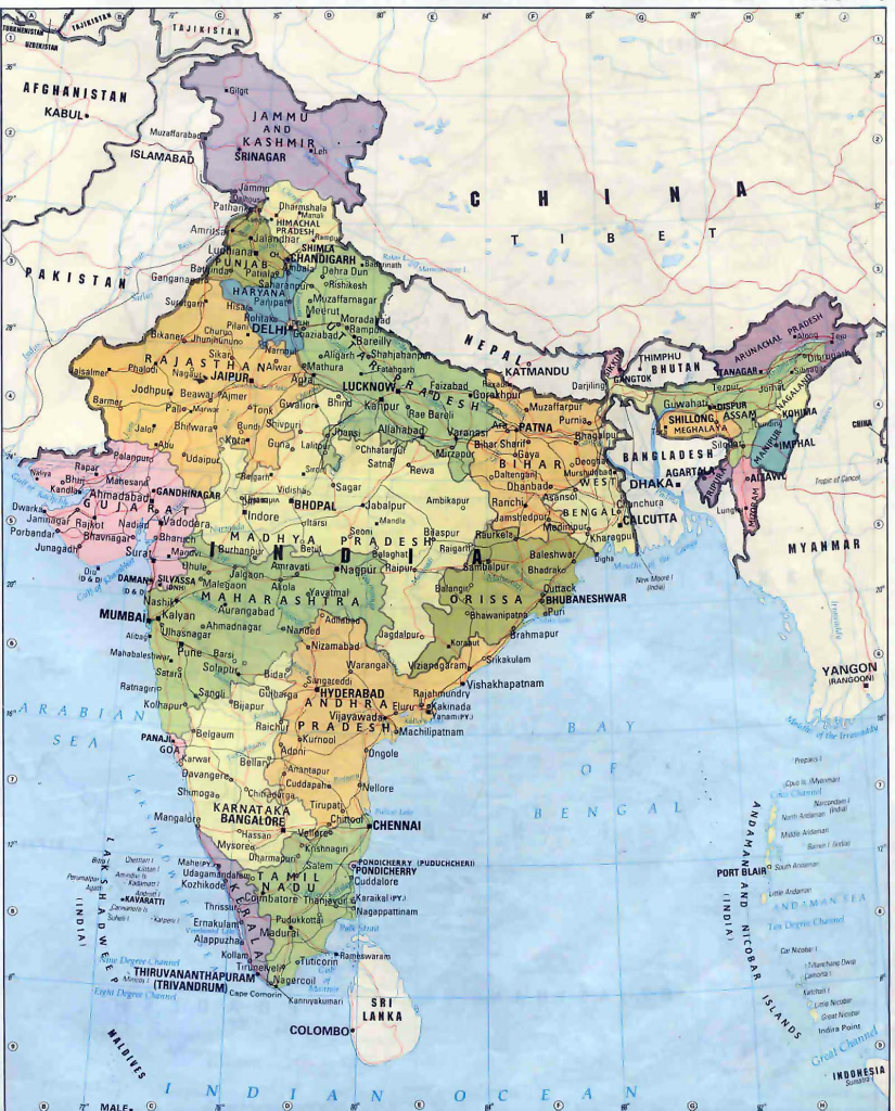 India Maps | Printable Maps Of India For Download for India Map Printable Free